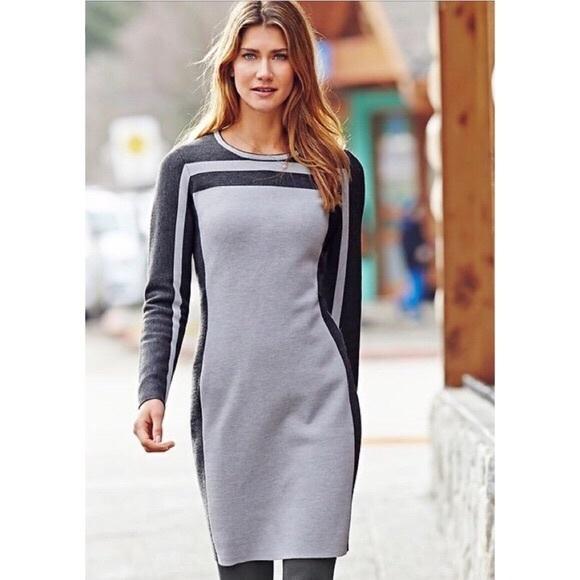 a70982d30e Athleta Dresses   Skirts - Athleta Boreal Sweater Dress Stripe Wool XL